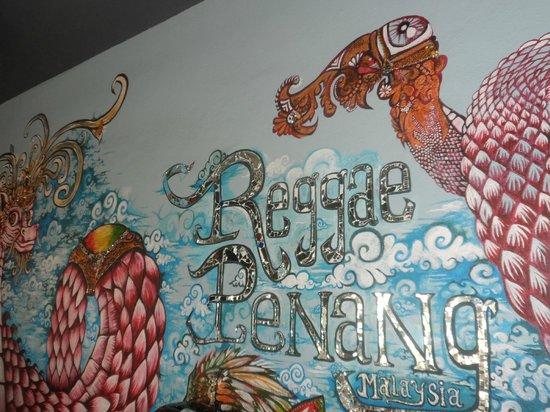 Reggae Penang Love Lane Hostel: pretty wall!