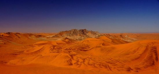 Namib-Naukluft Park, Namíbia: Paysage magique depuis le sommet de Big Daddy