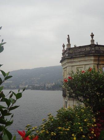 Isola Bella: view of Lake Maggiore from Palazzo Borromeo garden
