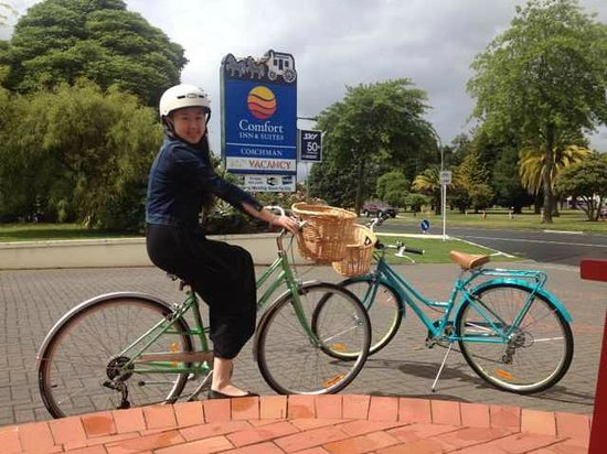 Rotorua Coachman Spa Motel: Vantage Style Cycle Ride, lots of fun!