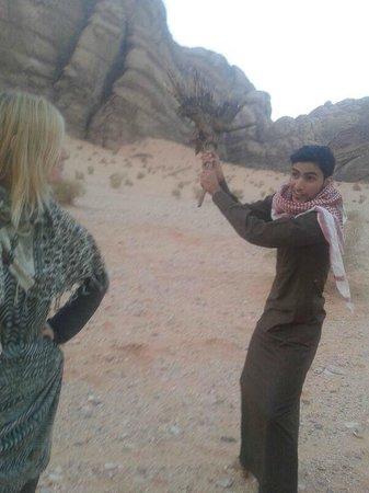 Wadi Rum Natural Wonder: Haha, this guy is really funny