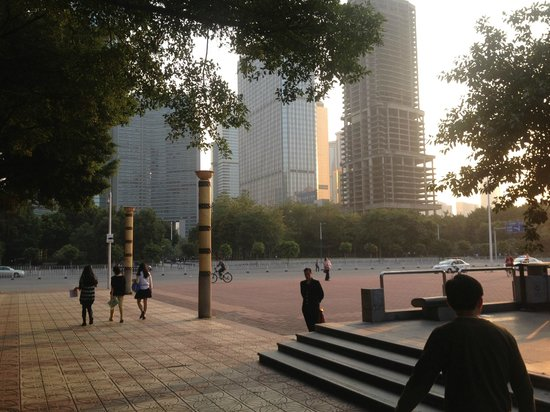 The Westin Guangzhou : Park across the street.  Lots of trees behind me.