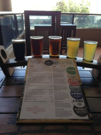 4 Pines Brewing Company : Tasting Rack at 4 Pines Brewery
