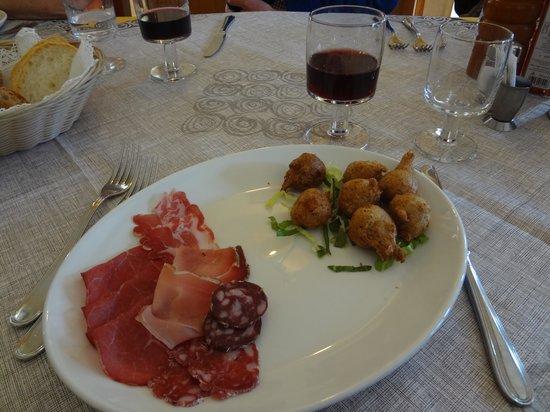 antipasto at Trattoria Del Simone