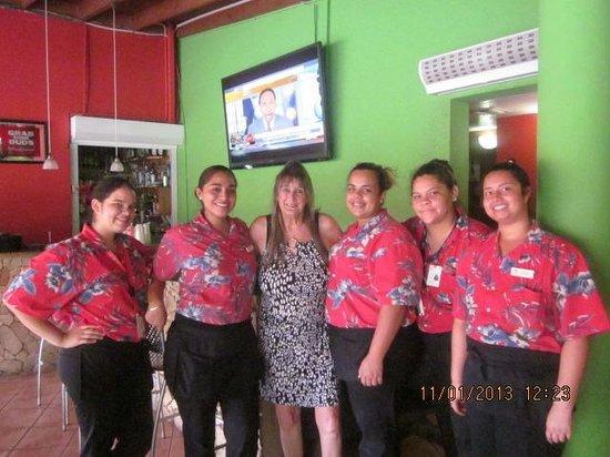 Brickell Bay Beach Club & Spa : Me with my wonderful girls from Tomato Charlies