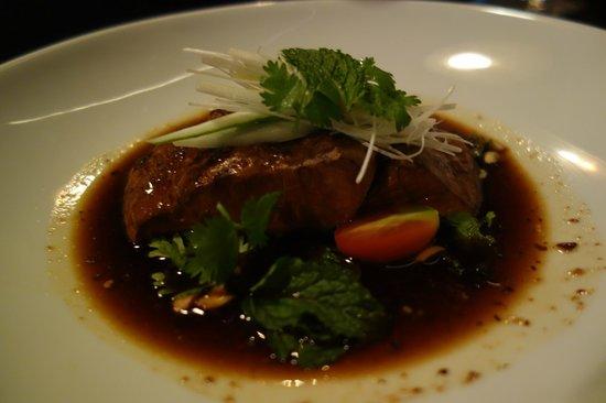 Paste Bangkok: Jasmine & cinnamon smoked wild sea bass fillet with black vinegar
