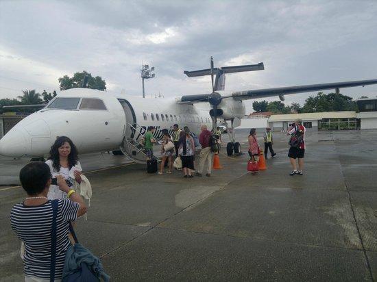 Jony's Beach Resort: The plane from Cebu,