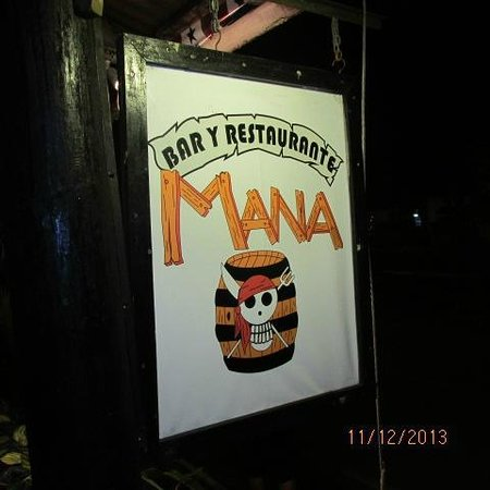 Mana Bar & Restaurant: street sign