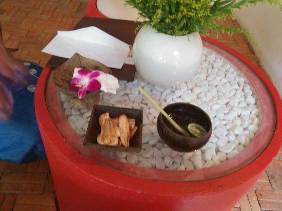 Villa Medamrei: Arrival snack