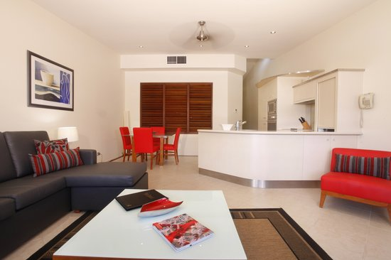 Saltwater Luxury Apartments: 2 Bedroom Living area Photo
