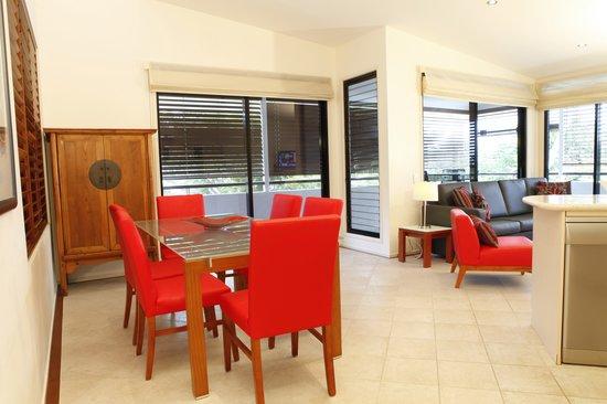 Saltwater Luxury Apartments: Three Bedroom Apartment Living Area Photo