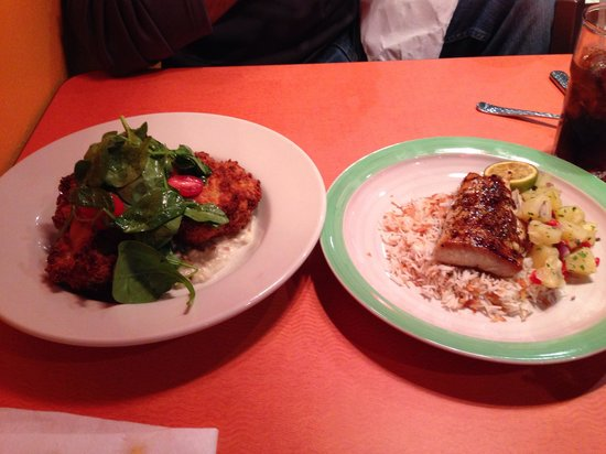 Lupi and Leo's: Asiago Chicken and Hawaii Mahi Mahi