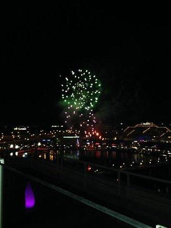 Bar Eleven, roof top Bar, sydney: Fireworks