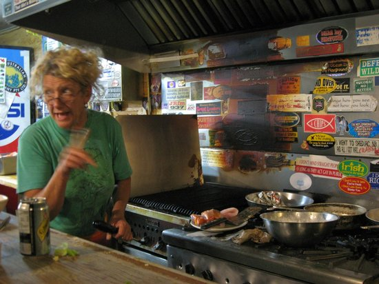 Bullocks' Bistro: Renate at the grill