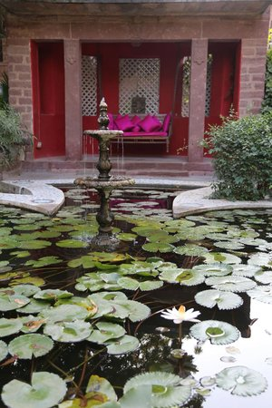 Devi Bhawan : View from the breakfast area - lovely daybed