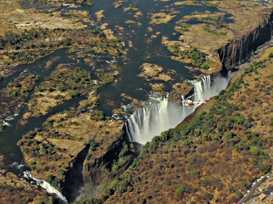 Ilala Lodge: Vic falls from the air
