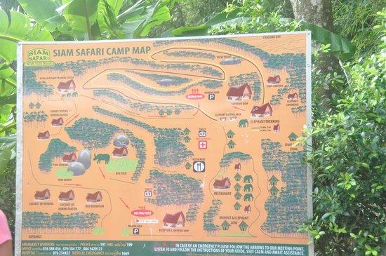 Siam Safari: Map of the compound