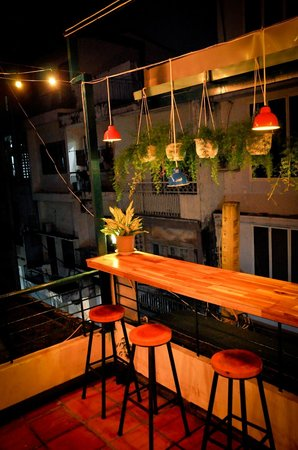 Terrace balcony bar counter picture of prem bistro for Balcony restaurant and bar
