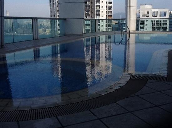 Metropark Hotel Causeway Bay Hong Kong: from the pool at the top