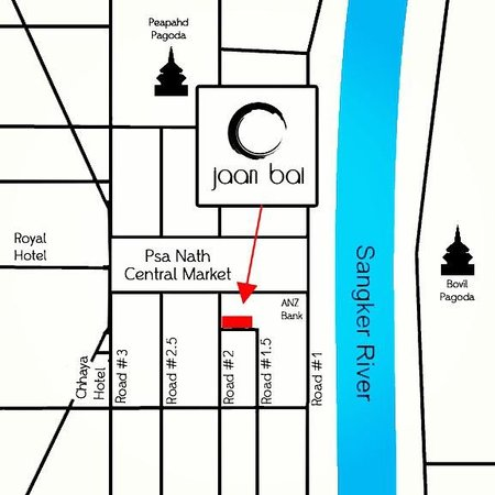 Jaan Bai Restaurant : how to find us !