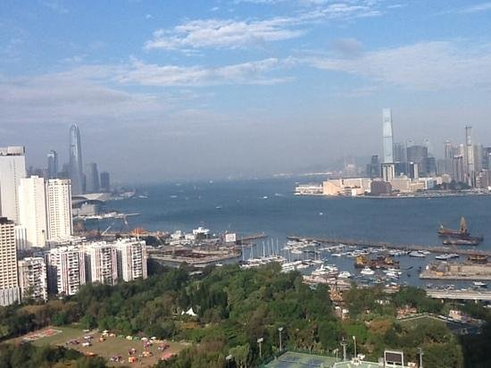 Metropark Hotel Causeway Bay Hong Kong: view from the top floor of the hotel