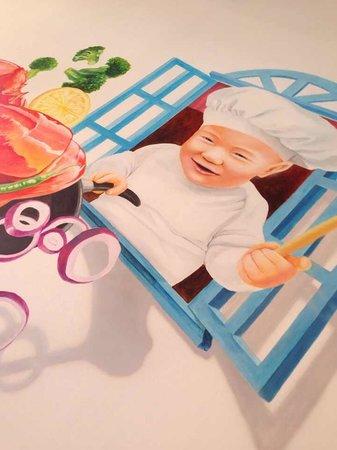 Pinang Taste Seafood Restaurant: Pinang Taste Mural