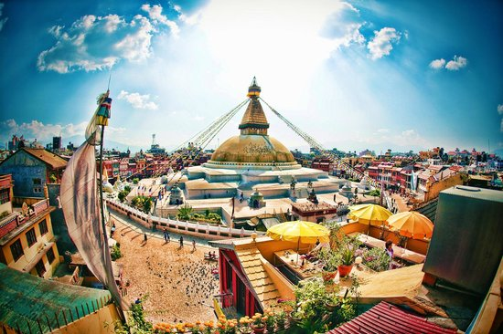 Bodnath Stupa Kathmandu Nepal View From Stupa View Restaurant Picture Of Boudhanath Stupa
