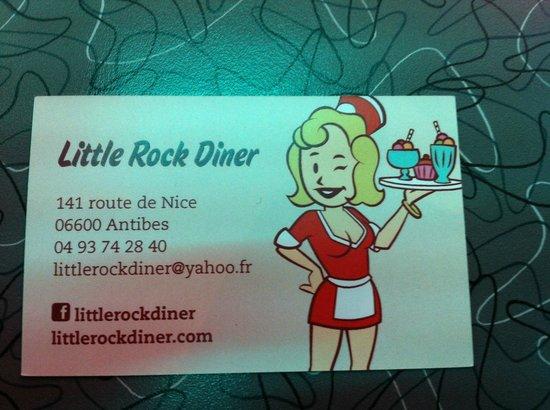 Little Rock Diner : Carte de visite