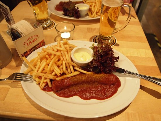 Restauration 1840: Curry-Wurst måste provas !