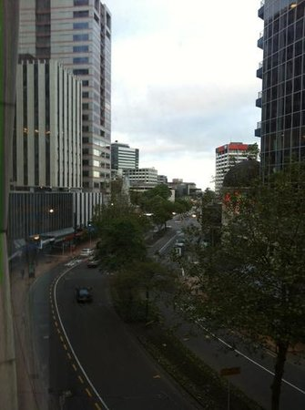 Quest on Lambton Serviced Apartments: View down Lambton Quay from the lounge window.