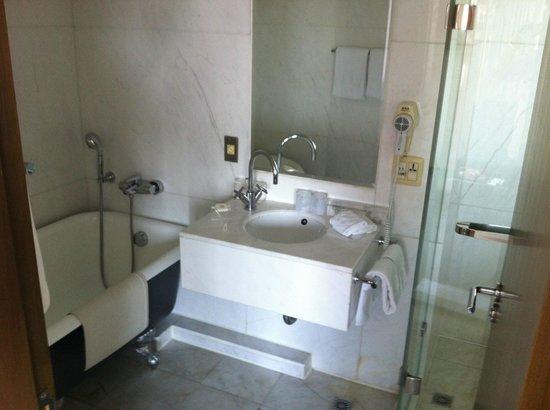 United Hotel : バスルームはシャワーブースとバスタブが離れているという作りです