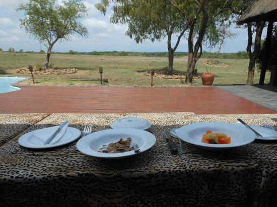 Tangala Safari Camp: View from breakfast table