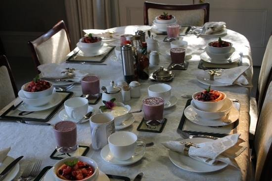 Forgandenny House Bed and Breakfast: One of our beautiful breakfast starters