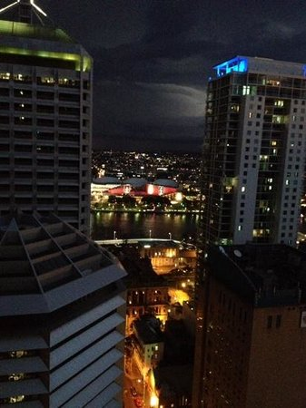 Oaks Festival Towers : this is the great night time view from our room