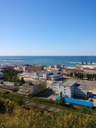 Nevelsk, Rosja: Вид с сопки на центр