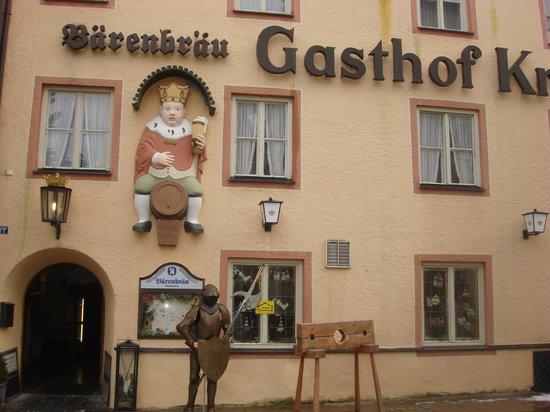 Altstadt von Fuessen: один из ресторанов города