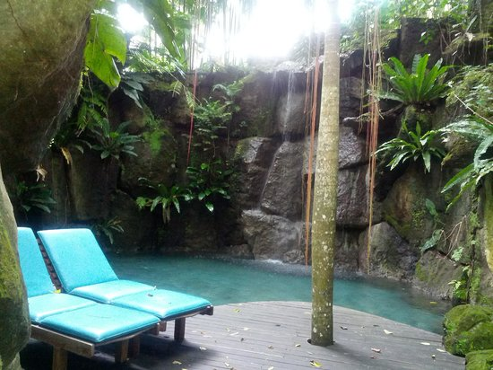 The Farm at San Benito: the secret waterfall pool