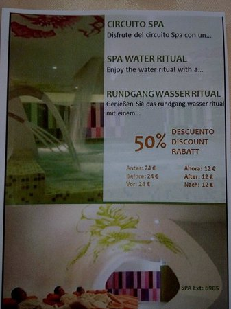 Beatriz Playa & Spa: Die Innenpool Benutzung im Spa mit Sauna gibt es manchmal auch für 12€ statt der 24€ pro Person