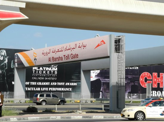 Sheikh Zayed Road: toll gate (4 AED each pass)