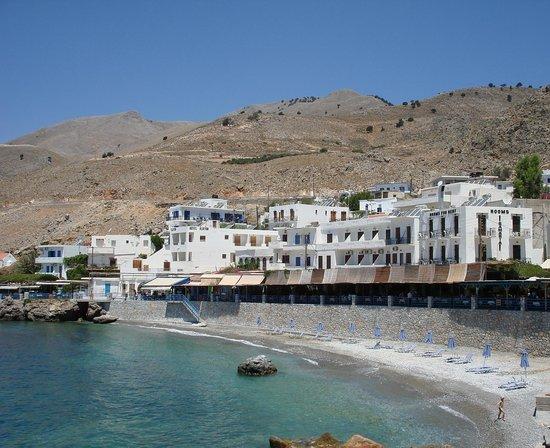 Vritomartis Naturist Resort: Chora Sfakion - SFAKIA: veduta della spiaggetta