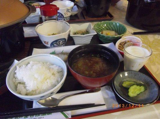 Gonohe Makiba Onsen: 朝食は和食膳