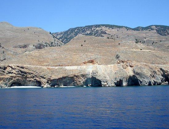 Vritomartis Naturist Resort: Dal traghetto Chora Sfakion - Loutro: calette selvagge