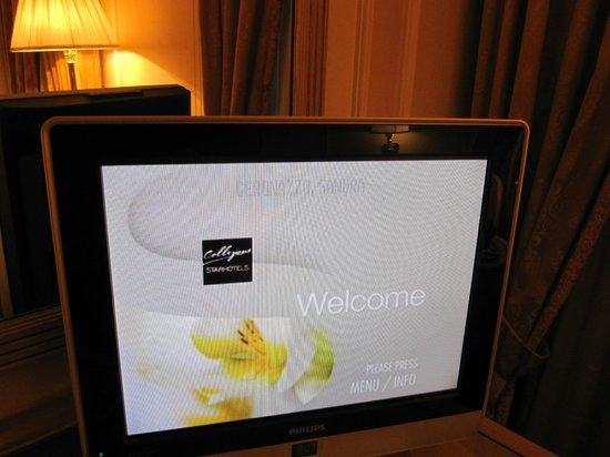 Starhotels Splendid Venice: recepção no aparelho de TV do quarto, um mimo do Hotel
