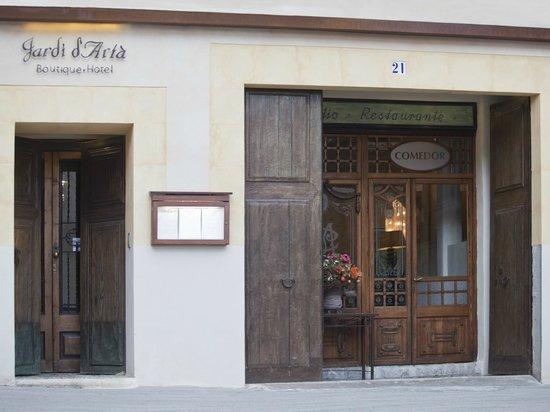 Jardi d´Artá Boutique-Hotel: Hotel - und Restauranteingang