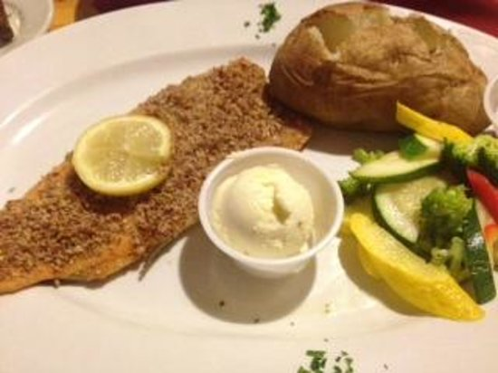 Black Forest : pecan-encrusted trout