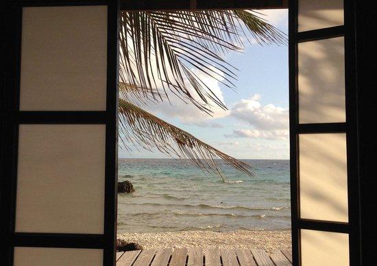 Tevahine Dream: vue du bungalow