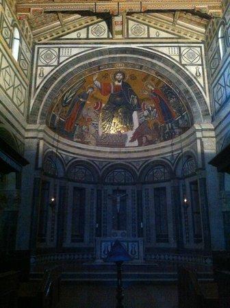 Basilica San Miniato al Monte : San Miniato al Monte a Firenze, catino absidale mosaicato