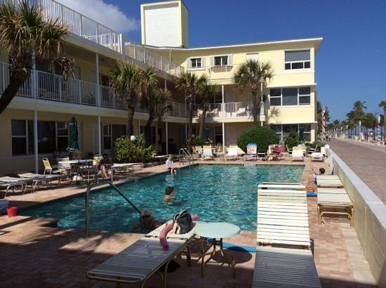 Tide Vacation Apartments: view of pool and Broadwalk