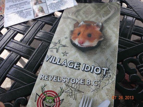 The Village Idiot: Menu
