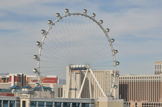 Platinum Hotel and Spa : New Wheel in Vegas, from our balcony